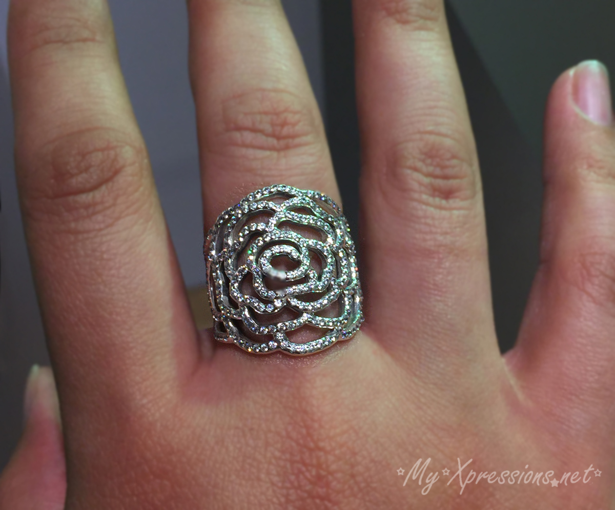 Review Pandora Large Shimmering Rose Ring My Xpressions