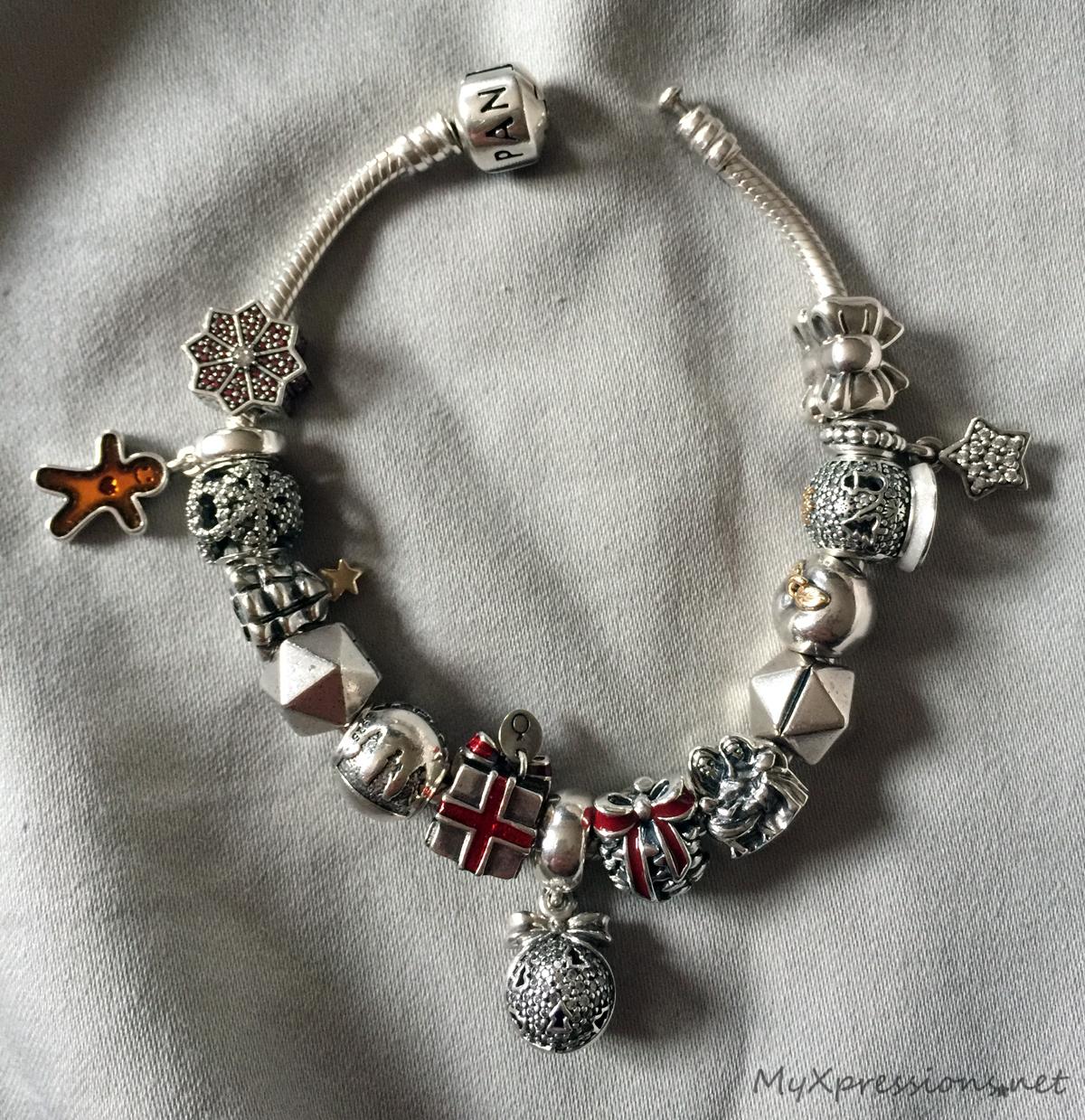 What I M Wearing My Pandora Christmas Bracelet 2016 My