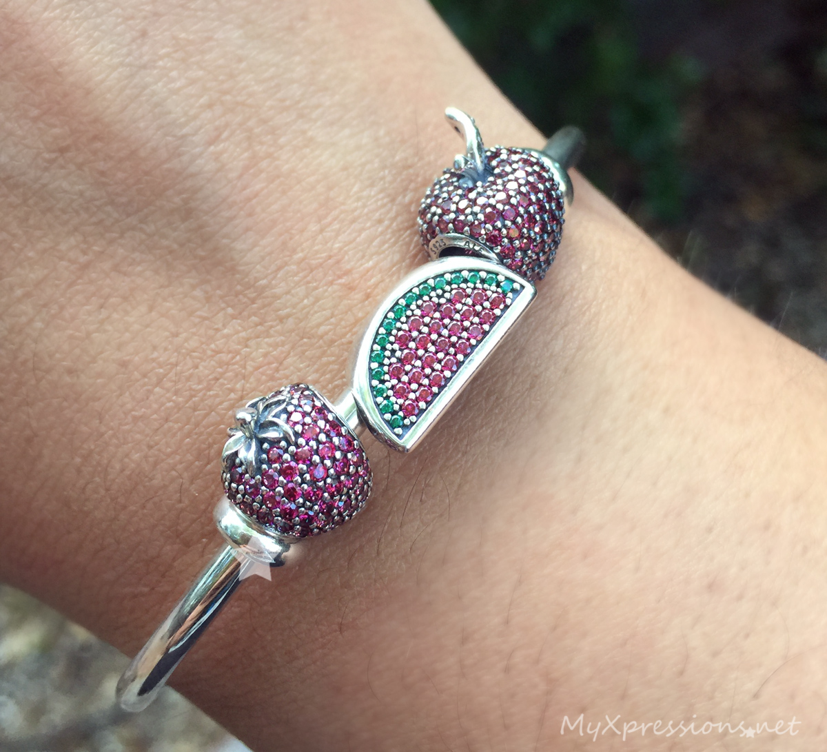 colors our new heart with a bangle bracelet pandora how pin charm open to available bangles birthstone store in reliant